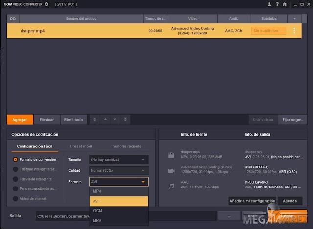 GOM Video Converter 2.0.0.3 imagenes