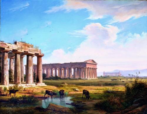anton sminck van pitloo i templi di paestum