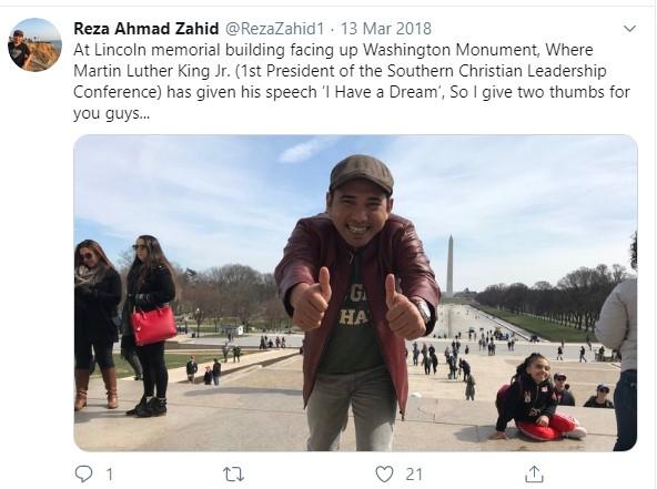 Gus Reza Ahmad Zahid di Amerika
