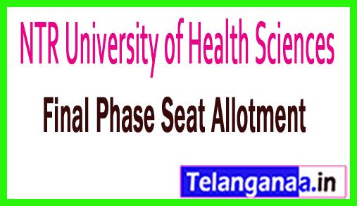 NTRUHS M.P.T 2nd Final Phase Seat Allotment