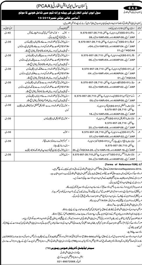 Pakistan Civil Aviation Authority Jobs 2019