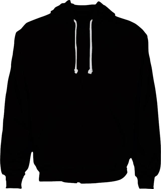 Download Desain Mock Up Zipper Hoodie CDR Free