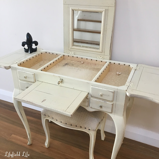 vintage french style dressing table - lilyfield life