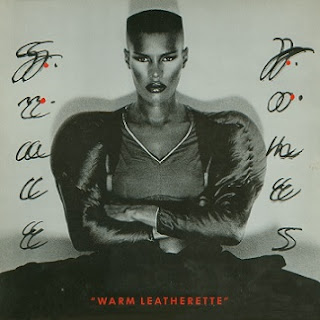 Grace Jones headshot black and white
