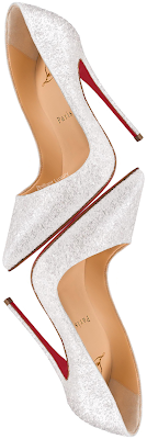 Christian Louboutin Pigalle Follies frosted white glitter pumps #brilliantluxury