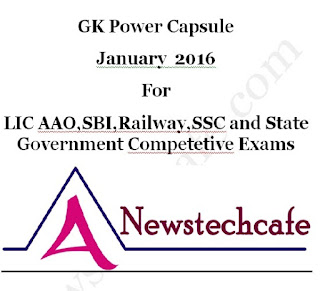 Daily Current Affairs GK Power Capsule For January 2016 Pdf Download