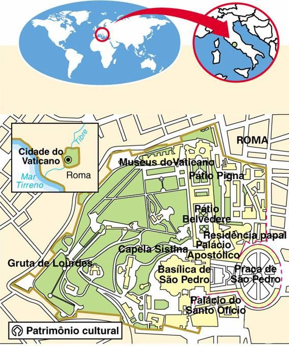 Cidade do Vaticano (0.44 km²)