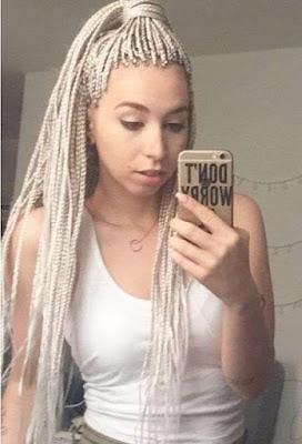 Grey braids styles