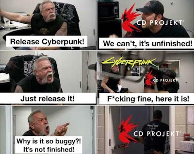 Meme Cyberpunk 2077