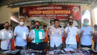 Ditresnarkoba Polda NTB Ungkap Kasus Pabrik Sabu di Lombok Timur