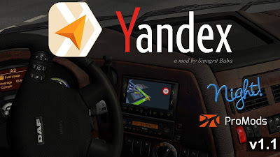 ETS 2 - Yandex Navigator Night Version for ProMods v1.1