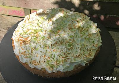 recette de key lime pie, tarte américaine aux citrons vert, tarte aux citrons vert, spécialité américaine, dessert de Floride, citrons verts, tartes sucrées, pâtisserie américaine, patissi-patatta