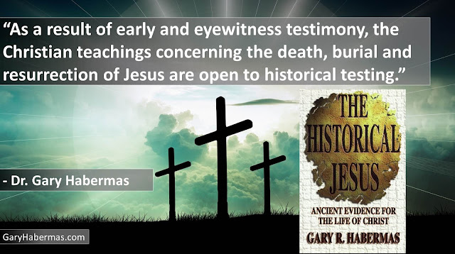 "Quote from Gary Habermas from his book ""The Historical Jesus: Ancient Evidence For The Life of Christ""- ""As a result of early and eyewitness testimony, the Christian teachings concerning the death, burial and resurrection of Jesus are open to historical testing."" #History #Jesus #Christianity #Evidence #Religion #God"