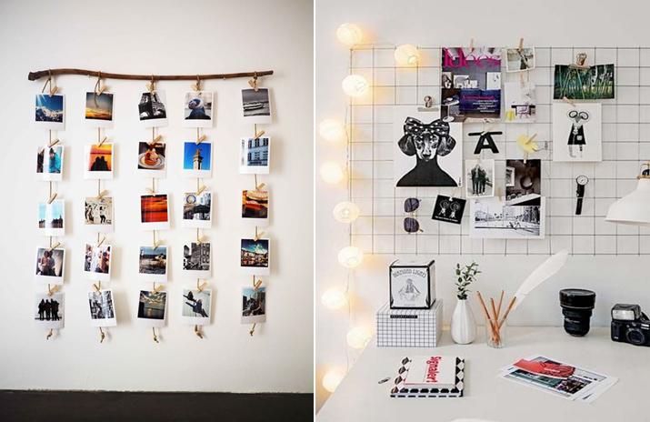 Inspiração com mural de fotos