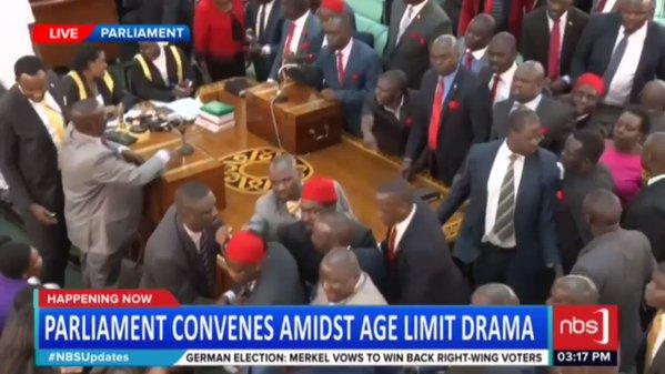 Video: Uganda MPs brawl during presidential age-limit debate