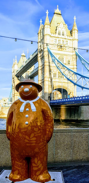 Walking with The Snowman at Tower Bridge