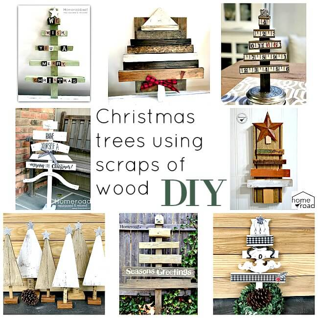 Scrap Wood Christmas Tree Round-up . Homeroad.net