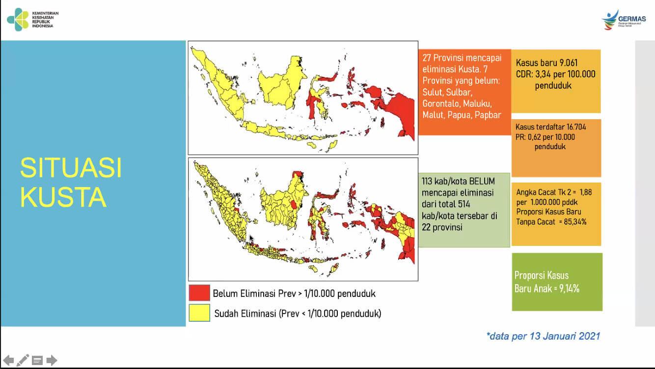 peta penyebaran kusta di Indonesia