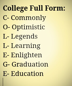 College का Full Form क्या होता हैं?College Full Form Image