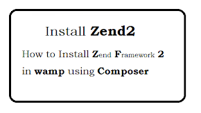 How to install Zend Framework 2 in wamp using composer?