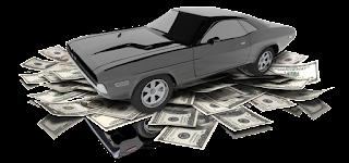 clip art of car and $100 bills