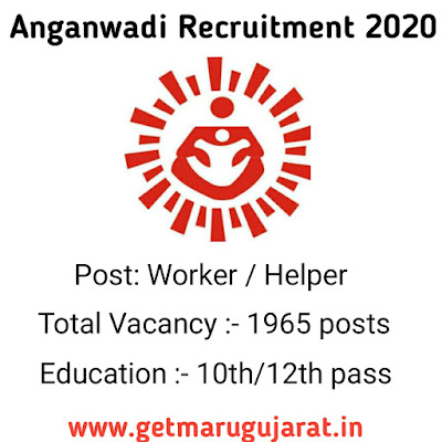 Anganwadi Worker & Helper Recruitment, Anganwadi Jobs