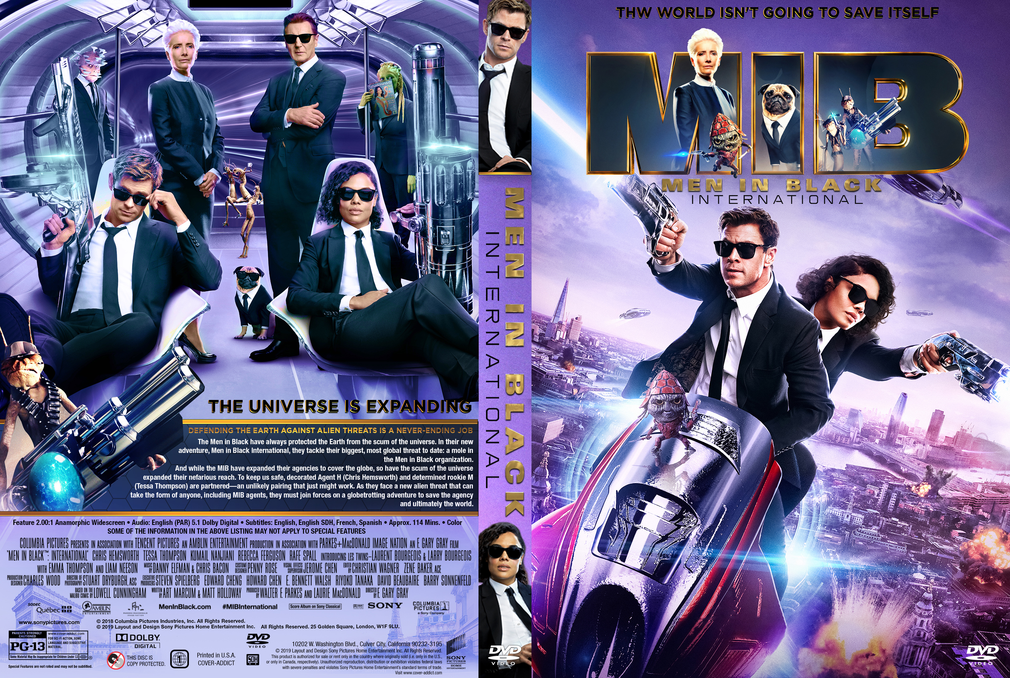 Men In Black International Dvd Cover Cover Addict Free Dvd Bluray Covers And Movie Posters