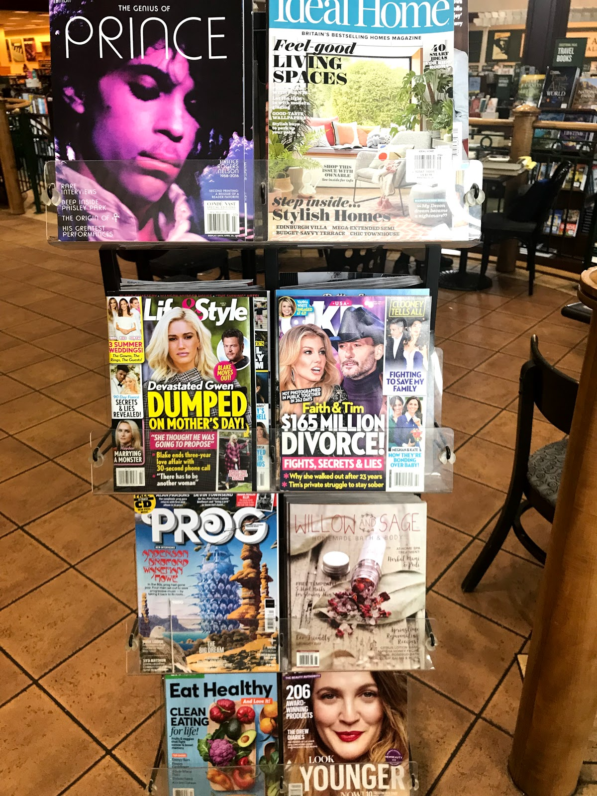 Image: Magazine rack at bookstore. Took our girls to the local book store to read  magazines. seen first on Bits and Babbles blog