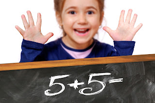 Happy Child Solving, Addition operation, 5 + 5, Maths is easy, real life mathematics, importance of arithmetics, use of mathematics, calculation accounting budgeting, four basic operations in maths