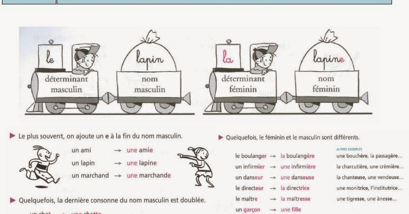 ISA FRENCH 2: G6 : POUR ECRIRE UN NOM AU FEMININ