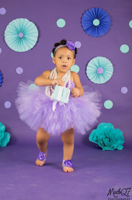 Anna Ebiere & Flavour's beautiful daughter, Sophia is a year-old today