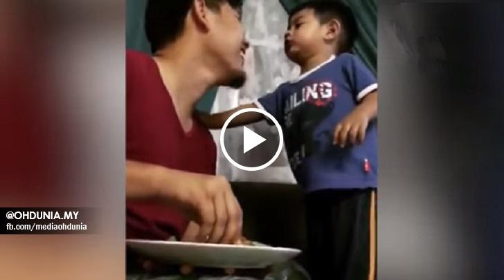 Video : Kanak-Kanak 2 Tahun Membebel Pada Bapanya Jadi Tular