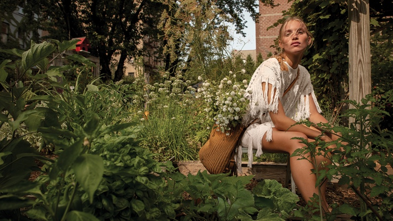 Michael Kors unveils spring-summer 2021 campaign shot in the New York Restoration Project Bronx Community garden.