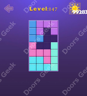 Cheats, Solutions, Walkthrough for Move Blocks Easy Level 147
