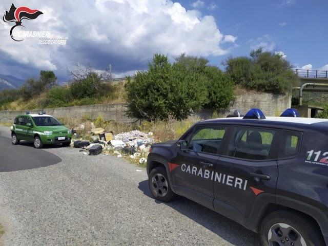 CASIGNANA. Rifiuti abbandonati: intervengono i carabinieri