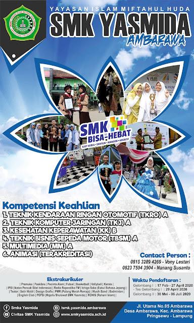 Desain Baliho PPDB SMK Yasmida Ambarawa 2020 #1