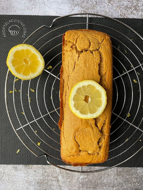Cake au citron IG bas - sans oeuf - aquafaba