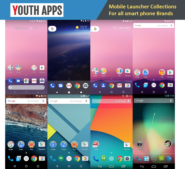 Latest smartphone Launcher for your smartphone model