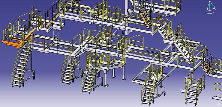 Проектирование площадок обслуживания