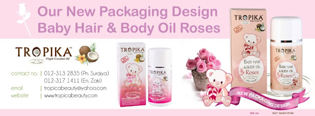 Baby Hair & Body Oil Roses Tropika Beauty