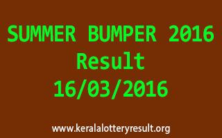 SUMMER BUMPER BR 48 Lottery Result 16-3-2016