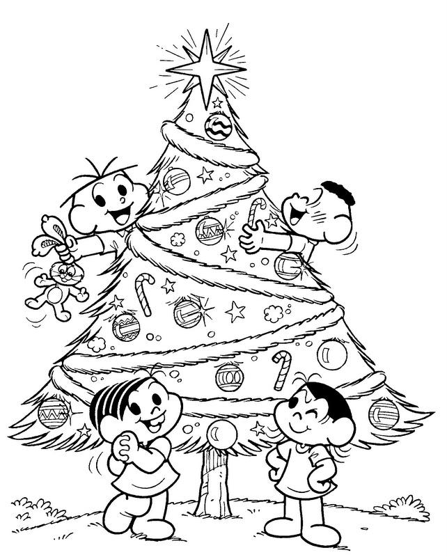 Sonhando Com Cores Natal Turma Da Monica