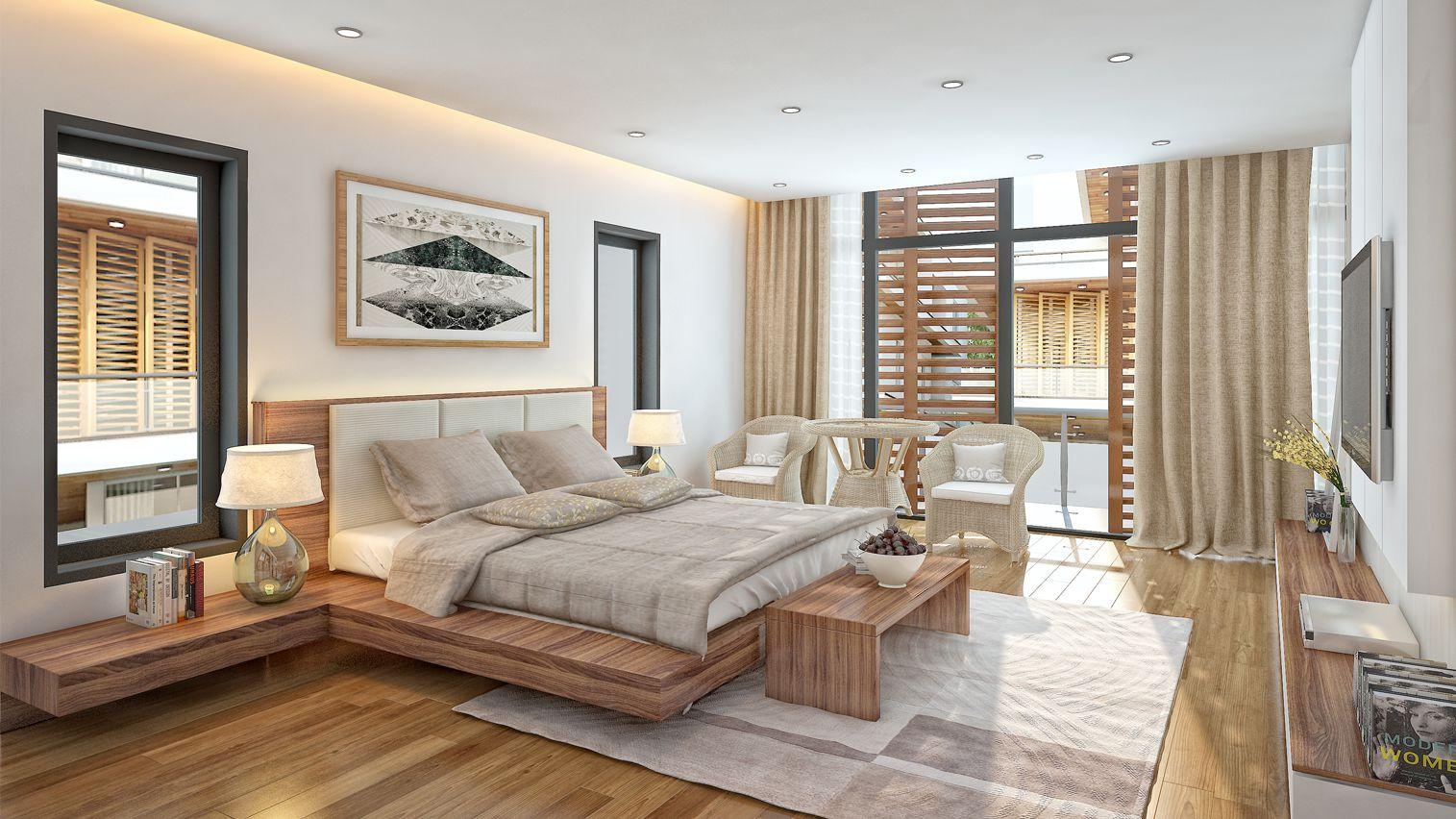 Phòng ngủ biệt thự Sao Biển