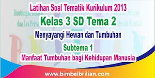 Soal Tematik Kelas 3 SD Tema 2 Subtema 1 Manfaat Tumbuhan bagi Kehidupan Manusia Dilengkapi Kunci Jawaban