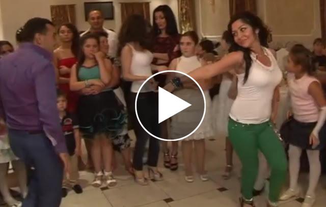 شابة تشعل زفافاً ارمينياً برقصها المذهل