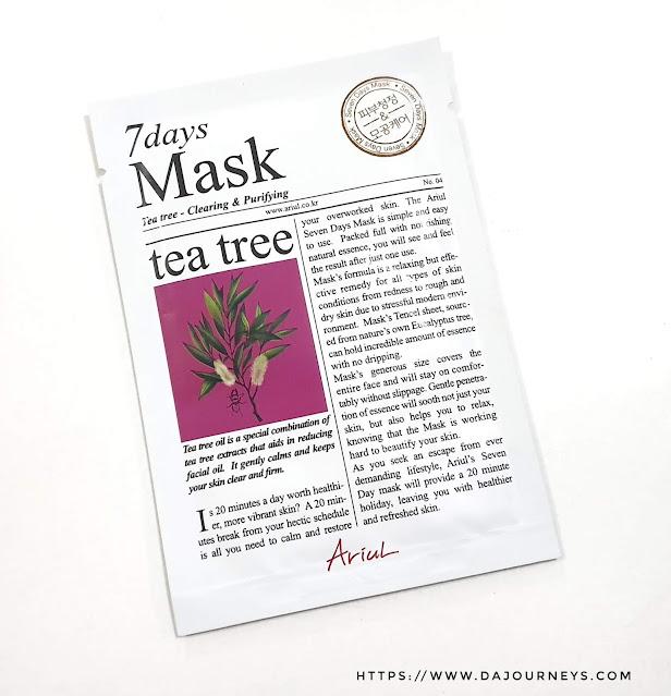 Review ARIUL 7 Day Masks Tea Tree