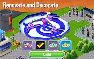 Jogo de simulação de parque de diversão para android