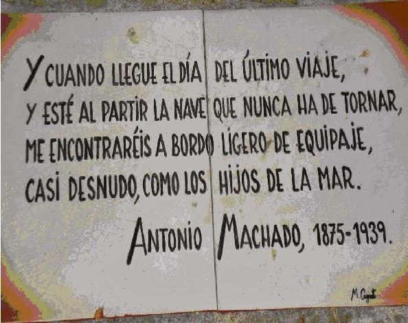 Leyenda en la tumba de Antonio Machado