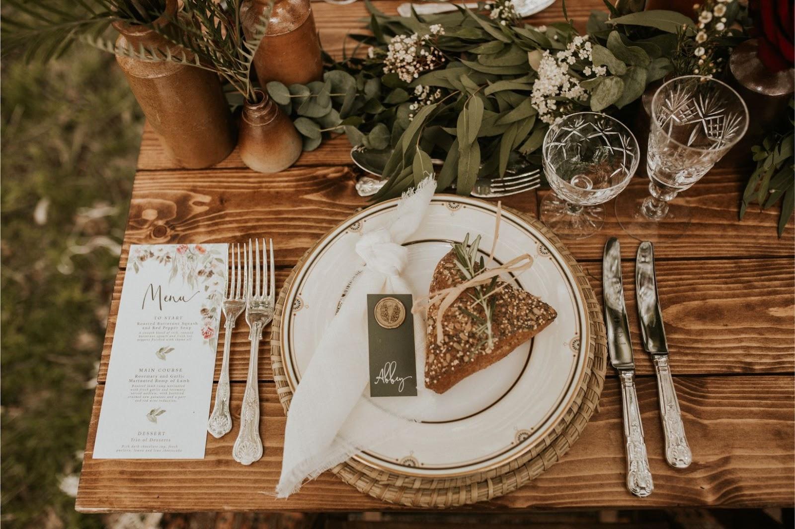 wedding stationery menus invitations designer modern rustic invites
