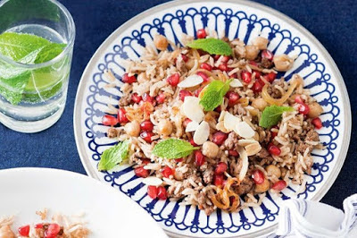 Pomegranate seeds pop with flavour in this budget Lebanese Rice Recipe (2)